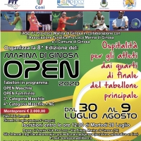 Dal 30 luglio al 9 agosto l'ottavo Marina di Ginosa Open