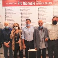 Venezia: vernissage di Pro Biennale con Sgarbi e tanti vips