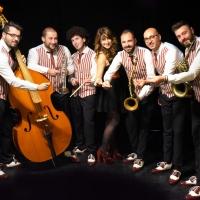Il gruppo Saxobar SwingSoul Orchestra alla finale di Sanremo Rock 2020