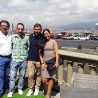 Gli ambasciatori del MISFF71 Marcello Zeppi, Luca Maris e Laura Andreini ospiti di Carlo & Pino Caprarella