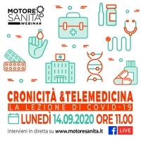 Cronicità e telemedicina. La lezione di Covid-19' - 14 Settembre - ORE 11