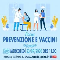 'Focus Prevenzione e vaccini' - 23 Settembre 2020, ORE 11