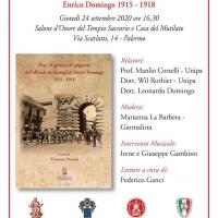 La Grande Guerra raccontata da un giovane bersagliere, a Palermo un evento dedicato alla pubblicazione di Vincenzo Nuccio
