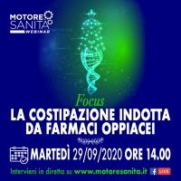 'La costipazione indotta da farmaci oppiacei' - Roma, 29 Settembre 2020, ORE 14:15