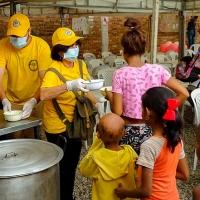 I Ministri Volontari di Scientology operano in Colombia per aiutare i profughi venezuelani
