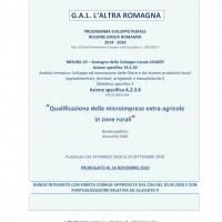 """Prorogato al 24 novembre il bando del Gal l'altra Romagna """"Qualificazione delle microimprese extra-agricole in zone rurali"""""""