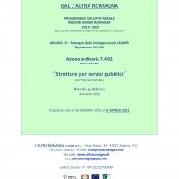 """Al via il bando del Gal L'altra Romagna """"Strutture per servizi pubblici"""""""