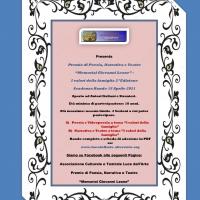 Al via la 2^ Edizione del Premio di Poesia, Narrativa e Teatro