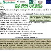 """Il Gal L'Altra Romagna protagonista del talk show tv """"Cammini"""""""