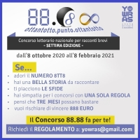 Concorso letterario nazionale 88.88 VII edizione - scadenza 08-02-2021