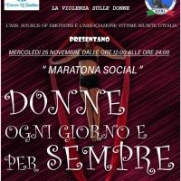 Maratona Social Donne: ogni giorno e per sempre, un evento online contro la violenza di genere