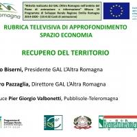 """Il Gal l'Altra Romagna protagonista della rubrica televisiva """"Recupero del territorio"""""""