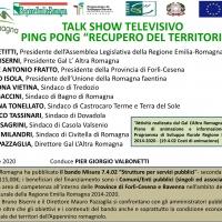 """Il Gal l'Altra Romagna protagonista del talk show tv """"Recupero del territorio"""" insieme agli amministratori pubblici locali"""