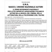 U.N.A. - NASCE L'UNIONE NAZIONALE AUTORI