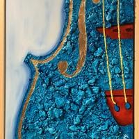 Il blu di purezza spirituale protagonista nella pittura di Roberto Re
