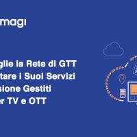 Amagi sceglie la rete di GTT per supportare i suoi servizi di trasmissione gestiti in cloud per TV e OTT