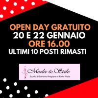 Moda&Stile: Open Day gratuito 20 e 22 gennaio