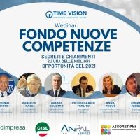 Fondo Nuove Competenze: dirigente Anpal conferma la proroga durante il webinar organizzato da Time Vision