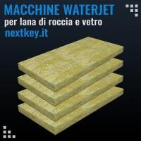 Waterjet per tagliare pannelli in lana di roccia e lana di vetro