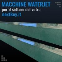 Macchine taglio a getto d'acqua per il settore del vetro a Brescia