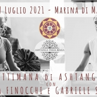 Una settimana di Ashtanga Yoga con Susanna Finocchi e Gabriele Severini, seminario dal 3 al 9 Luglio 2021 a Marina di Massa in Toscana