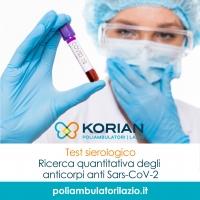 test sierologico Poliambulatori Lazio Korian