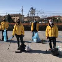 Effettuate le pulizie nell'area della stazione
