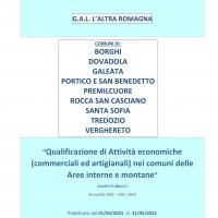 Al via il bando del Gal l'Altra Romagna a sostegno delle attività economiche  delle aree interne e montane