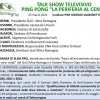 """""""La periferia al centro""""  il Gal l'Altra Romagna protagonista del talk show televisivo di Teleromagna"""