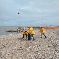 Marotta: I volontari rimuovono oltre 25 kili di spazzatura dalla spiaggia libera di ponente.