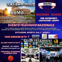 CONCORSO CANORO TALENT-TIME EDIZIONE 2021 EVENTO TELEVISIVO NAZIONALE