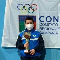 -Scisciano, Francesco Pignalosa ai Campionati Italiani Giovanili Tennis Tavolo. (Scritto da Antonio Castaldo)