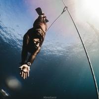 Vincenzo Ferri a caccia del record italiano di apnea in assetto variabile senza attrezzi