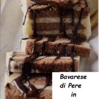Bavarese di Pere in cassetta  con preparazione e ingredienti