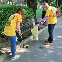 I Ministri Volontari di Scientology si prendono cura del parco Falcone Borsellino