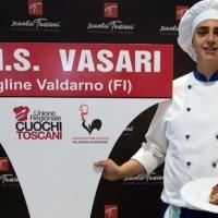 """Uno studente del """"Vasari"""" di Figline Valdarno è il miglior allievo-cuoco toscano"""