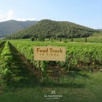 Food truck in vigna a La Montina in Franciacorta – Degustazione pizza e Franciacorta al tramonto