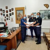 Voontari San Giorgio-Palmanova- visita del presidente dell'I.P.A. (International police association) di gorizia sabato - 26 giugno 2021