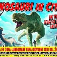 """Il tour """"Dinosauri in città"""" a Pescara, dall' Inghilterra per la prima volta in Italia"""