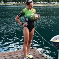 "Lilli Gelmini vince Ledroman Triathlon Sprint 1h06'32"", record femminile gara"