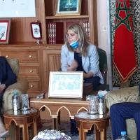 Luciana Lamorgese, Ministro dell'interno Italiano in visita ufficiale a Rabat Focus su sicurezza tra i due stati, sviluppo economico e migrazione.