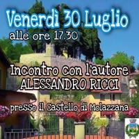 Incontro con lo scrittore Alessandro Ricci a Molazzana