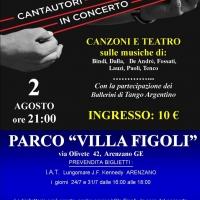 Cantautori in concerto con i Zena Singers a Parco Villa Figoli di Arenzano