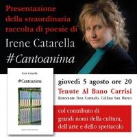 """""""#Cantoanima"""" di Irene Catarella presentato alla mostra-evento alle Tenute Al Bano Carrisi giovedì 5 agosto"""