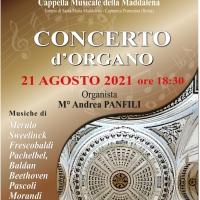 A Capranica Prenestina concerto d'organo del Maestro Andrea Panfili
