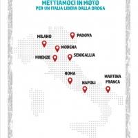 Ultima tappa a Padova della 1° edizione del Motogiro Nazionale Dico No alla droga Mettiamoci in moto per un Italia libera dalla droga.