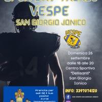 Vespe San Giorgio, una pagina nuova del football americano nella provincia di Taranto