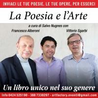 """Il nuovo libro di Salvo Nugnes """"La Poesia e l'Arte"""" con il contributo di Sgarbi, Alberoni, Merluzzi e Manera"""