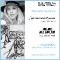 La storica Milano Art Gallery ospita la mostra personale di Melanie Francesca