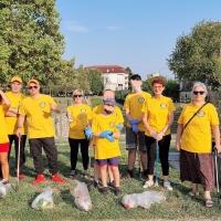 I volontari di Scientology al parco Torri Gemelle